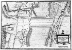 Ancien aqueduc de Pontgouin à Versailles (également sur communes de Berchères-Saint-Germain et Pontgouin) - Français:   Carte représentant l\'Aqueduc Royal de Maintenon, en 1687.