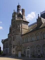 Château, actuellement musée agricole - Deutsch: Das Schloss Montigny-le-Gannelon, Eure-et-Loir