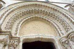 Eglise Notre-Dame - Deutsch: Kirche Notre-Dame in Nogent-le-Rotrou im Département Eure-et-Loir (Centre-Val de Loire/Frankreich), Archivolten des Westportals
