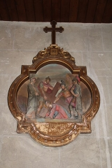 Eglise Notre-Dame - English: The 7th station of the Cross, inside Notre-Dame Church, in Nogent-le-Rotrou, Eure-et-Loir, France.