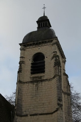 Eglise Saint-Laurent - English: The belltower of St. Lawrence church, in Nogent-le-Rotrou, Eure-et-Loir, France.