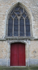 Eglise Saint-Laurent - English: The gate of St. Lawrence church, in Nogent-le-Rotrou, Eure-et-Loir, France.