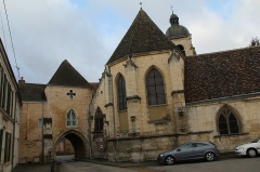 Eglise Saint-Laurent - English: St. Lawrence church and St. Lawrence Gate, in Nogent-le-Rotrou, Eure-et-Loir, France.