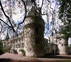 Château d'Argy - Deutsch: Schloss Argy in französischen Departement Indre - Außenansicht