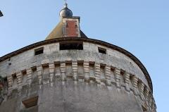 Château d'Azay-le-Ferron - Azay-le-Ferron (Indre)  Château d\'Azay-le-Ferron.  La tour est le seul vestige important du château féodal. Elle fut élevée pour Prégent Frotier (1425 - 1497) à la fin du XVe siècle. Une inscription au sommet porte la date de 1496.  Prégent Frotier est le fils de Pierre Frotier (avant 1390 - 1459), baron de Preuilly et du Blanc, et de Marguerite de Preuilly* (+1445) fille de Gilles de Preuilly.  Le père, Pierre Frotier avait d\'abord pris le parti des Armagnac puis il passa au service du roi Charles VI. Il sera écuyer puis grand maître de l\'écurie de Charles VI, ensuite sénéchal du Poitou sous Charles VII.  Antoine de Preuilly, frère de Gilles de Preuilly,fut tué en 1423, laissant la seigneurie de la Roche-Posay à ses enfants, Pierre et Louise. Pierre étant mort sans alliance, la seigneurie passa à sa soeur Louise, mariée à Geoffroy Chasteignier qui devint ainsi baron de la Roche-Posay. Son fils Guy Chasteignier devint naturellement baron de la Roche-Posay.  Prégent Frotier (ou Frottier), mécontent que la baronnie de la Roche-Posay fut distraite de celle de Preuilly, contesta cet héritage à Guy Chasteignier. Il obtint de Louis XI, en 1471, une lettre de cachet en vertu de laquelle il prit possession du château de la Roche-Posay, d\'où il chassa sa grand\'tante maternelle (Louise). Il y eu procès et finalement, la Roche-Posay resta dans la famille Chasteignier. (Histoire de Touraine depuis la conquête des Gaules par les Romains, jusqu\'à ...Par Jean-Louis Chalmel)     Le domaine de Preuilly était considéré comme la première barronie de Touraine. Gilles de Preuilly, père de Marguerite, était le fils aîné d'Eschivard VI de Preuilly, seigneur de la Roche-Pozay. En juin 1401, il avait obtenu des lettres de rémission** pour le meurtre dun certain André Rivau, à Preuilly même. Partisan des ducs d'Orléans et de Berry, qui travaillaient à enlever la régence du royaume au duc de Bourgogne, il avait pris une part active à la guerre civile en 1410 e