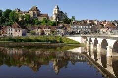 Château-Naillac, dit Vieux Château - English: Le Blanc citie, Naillac castel; Saint Cyran church; Creuse river
