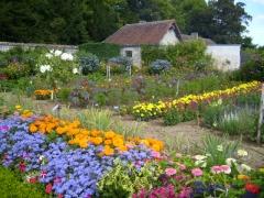 Château de Bouges - English: Flower garden of the Chateau de Bouges