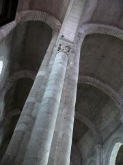 Eglise Notre-Dame - Châtillon-sur-Indre - Eglise Notre-Dame - Poteau entre la nef centrale et le collatéral Nord