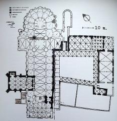 Ancienne abbaye Notre-Dame-du-Bourg-Dieu - Français:   Plan de l\'abbaye de Déols