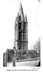 Ancienne abbaye Notre-Dame-du-Bourg-Dieu - Français:   Abbaye de Déols. Clocher au sud