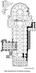 Ancienne abbaye Notre-Dame-du-Bourg-Dieu - Français:   Abbaye de Déols, reconstitution de l\'abbatiale