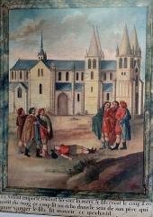 Ancienne abbaye Notre-Dame-du-Bourg-Dieu - Français:   Miracle de Déols