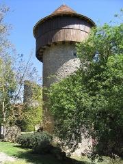 Château d'Ingrandes -  Tour d'angle Sud avec son Hourd