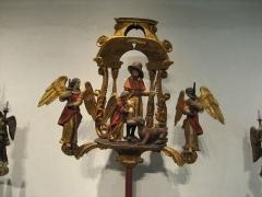 Ancien hôtel-Dieu - Français:   Bâton de procession de la corporation des mégissiers dont le patron est saint Roch. Musée de l\'hospice Saint-Roch, à Issoudun.