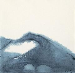 Ancien hôtel-Dieu - Imprégnation de pigments bleu sur papier (26 x 26 cm)