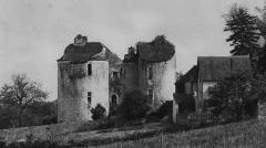 Château -  Prieuré_de_Lurais_vu_de_la_route_de_Mallet_dans_les_années_1930