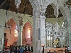 Eglise Sainte-Marie-Madeleine - Français:   Mézières-en-Brenne - Église Sainte-Marie-Madeleine - La chapelle nord vue de la chapelle d\'Anjou