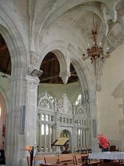 Eglise Sainte-Marie-Madeleine - Français:   Mézières-en-Brenne - Église Sainte-Marie-Madeleine - Chapelle d\'Anjou: détail de la décoration