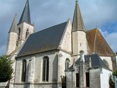 Eglise Sainte-Marie-Madeleine - Français:   Mézières-en-Brenne - Église Sainte-Marie-Madeleine - Extérieur de la chapelle d\'Anjou