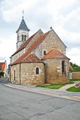Eglise Saint-Martin de Vicq - Deutsch:   Ansicht von SO