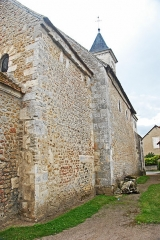Eglise Saint-Martin de Vicq - Deutsch:   Nordseite