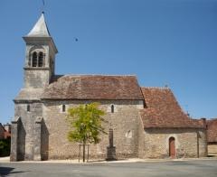 Eglise Saint-Martin de Vicq - English:   Église Saint Martin de Vic; Nohant-Vic, Indre, Centre-Val de Loire, France;; ref: PM_092627_F_Nohant_Vic;; Photographer: Paul M.R. Maeyaert; www.pmrmaeyaert.eu; © Paul M.R. Maeyaert; pmrmaeyaert@gmail.com; Cultural heritage; Europeana; Europe/France/Nohant-Vic;