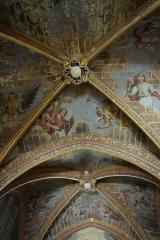 Château - Français:   Fresques du plafond de la chapelle du château.