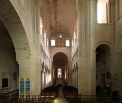 Eglise Saint-Genou (ancienne abbatiale) £ -  Romanische Kirche Sainte-Vierge in der französischen Ortschaft Saint-Genou im Département Indre - verbliebene Chorseite