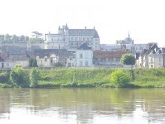 Château - Château royal d'Amboise (Indre-et-Loire, France), vu depuis la rive droite de la Loire
