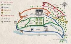 Château Gaillard - Français:   Cartes des sentiers de Château Gaillard Amboise