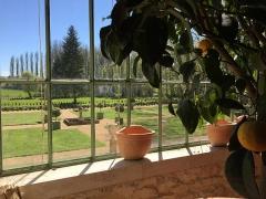 Château Gaillard - English: view from inside orangery Château-Gaillard Amboise