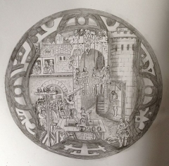 Château Gaillard - Français:   Gravure Conjuration