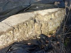Fanum des Châteliers - Français:   Mur en petit appareil de la cella du fanum (Amboise)
