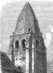 Ancien prieuré de Saint-Jean-du-Gray - Français:   Clocher du prieuré St Jean-du-Grais