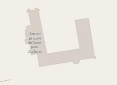 Ancien prieuré de Saint-Jean-du-Gray - Français:   Plan du prieuré de Saint-Jean-du-Grais
