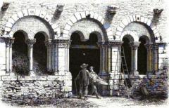 Ancien prieuré de Saint-Jean-du-Gray - Français:   Prieuré Saint Jean du Grais (dortoir) par Casimir Chevalier