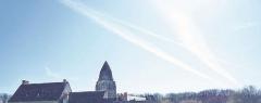 Ancien prieuré de Saint-Jean-du-Gray - Français:   Vue du clocher des toits de bâtiments du prieuré Saint Jean du Grais.
