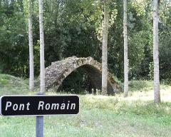 Vestiges du pont sur l'Indre du 15e siècle - English: Roman Bridge of Isle Auger (Chambourg/Indre, France)