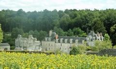 Ancienne chartreuse du Liget - Français:   Panorama général de la chartreuse (ruines de l\'abbatiale et communs modernes)