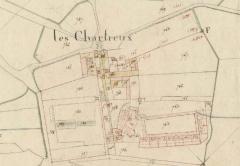 Ancienne chartreuse du Liget - Français:   Plan de la chartreuse du Liget sur le cadastre napoléonien