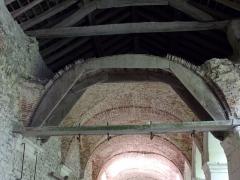 Ancienne chartreuse du Liget - Français:   Cintre ayant permis la construction des voûtes du cloître