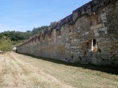 Ancienne chartreuse du Liget - Français:   Grande aile du cloître, côté intérieur