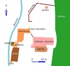 Ancien monastère dit La Corroierie - Français:   Plan de la Corroirie (XXIe siècle)