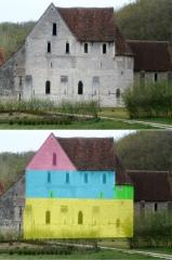 Ancien monastère dit La Corroierie - Français:   Chronologie des phases de construction de l\'église