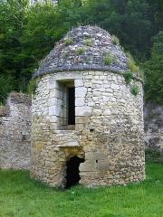 Ancien monastère dit La Corroierie - Français:   Tourelle (Four à chanvre / Prison). La Corroirie en Indre-et-Loire, en France.