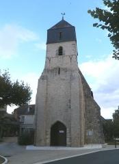 Eglise paroissiale Notre-Dame - Français:   Le clocher de l\'église Notre-Dame de Cigogné