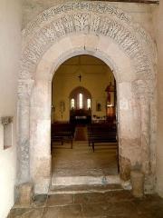 Eglise paroissiale Notre-Dame - Français:   portail de l\'église Notre-Dame de Cigogné