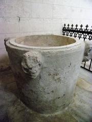 Eglise Notre-Dame-de-Fougeray - Fonts baptismaux de l'église.