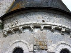 Eglise paroissiale Saint-Urbain - Français:   Corniche et modillons du chœur