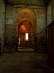 Eglise du cimetière (église Saint-Léger du Vieux-Bourg) -  abside de l'église de Cravant-les-Côteaux